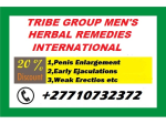 TRIBE GROUP INTERNATIONAL DISTRIBUTORS OF MEN'S HERBAL PRODUCTS CALL +27710732372 CANADA