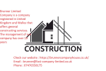 Construction House, Bricklayer Roofing Dryliner Tailing Tiles Drenaci Drainage Digging Foundation